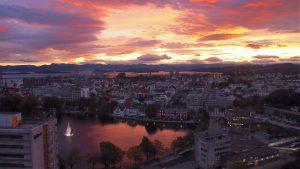 Zonsopgang in Stavanger